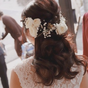bridal hair&make ecru