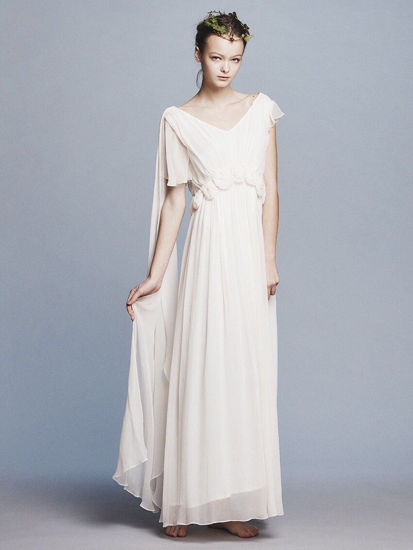 silk yoryu corsage wedding dress