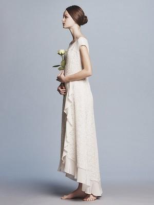 cotton flower lace x dechin F/S frill dress