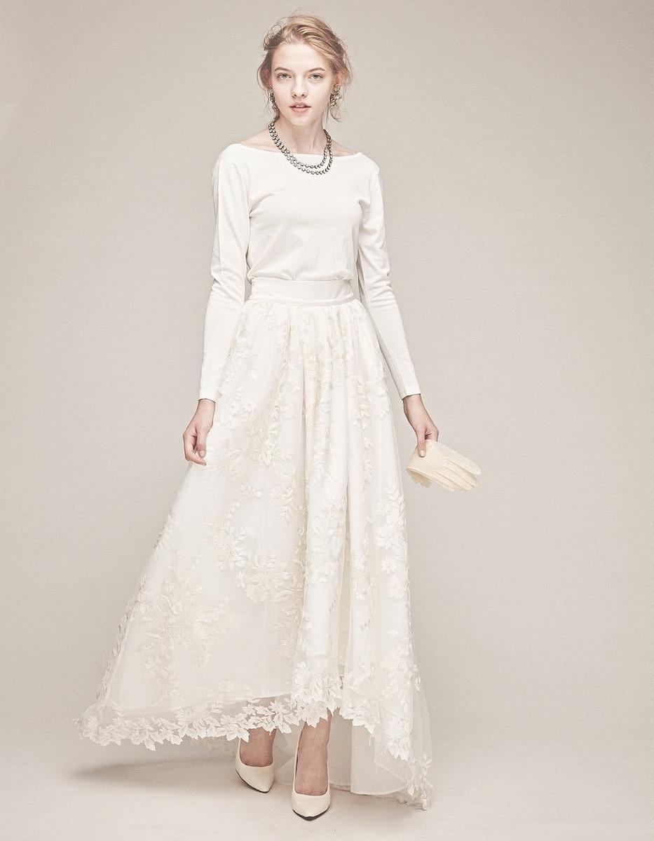 シルクニット×グラデーション刺繍ドレス