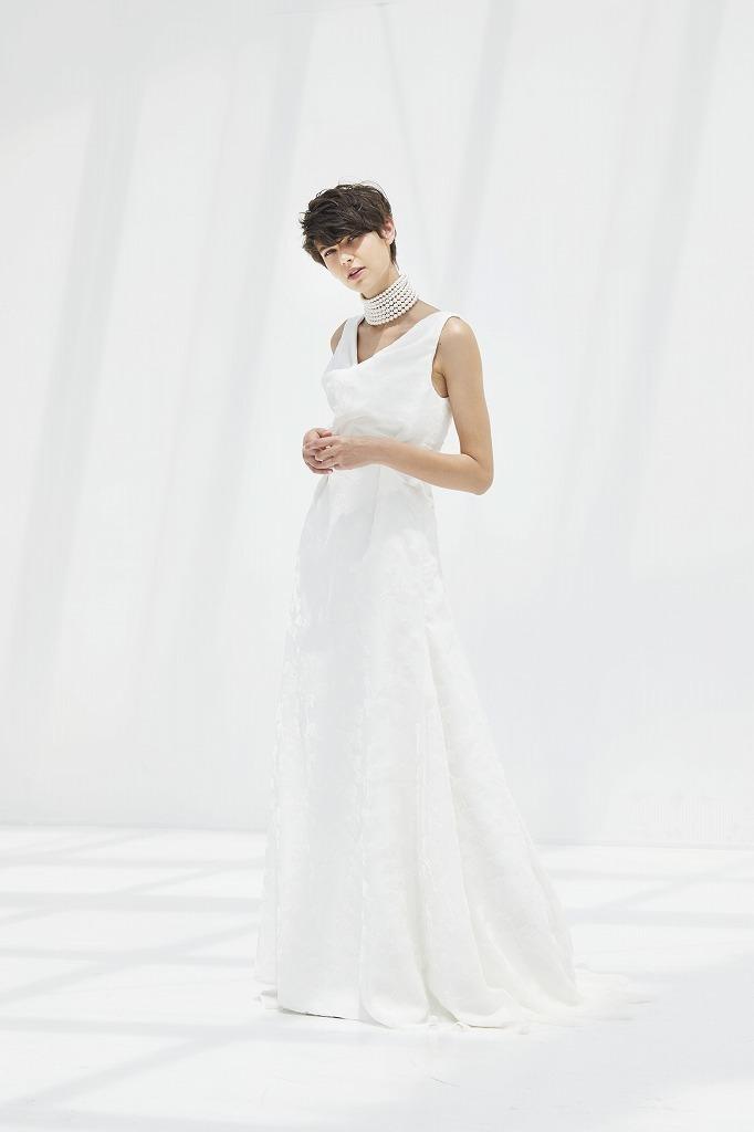 ドレープタックマーメイドドレス