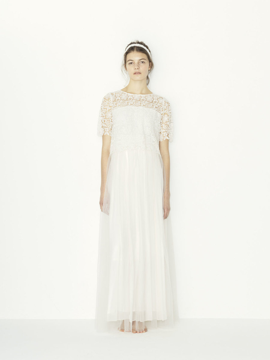 chemical lace x pe yoryu +tulle SK wedding dress