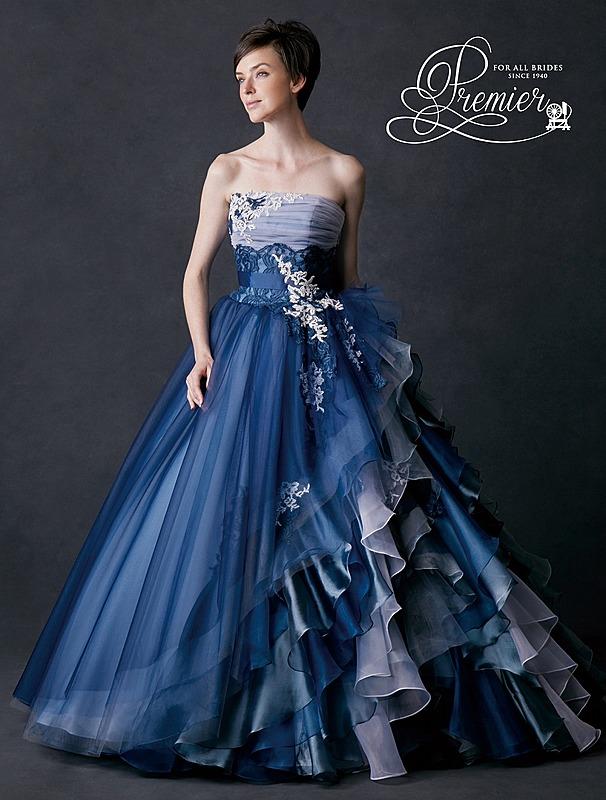 オーガンディとチュールのドレス