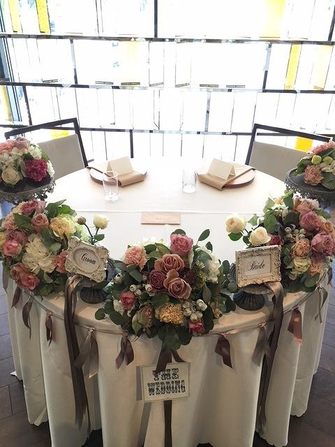 アンダーザツリーのメインテーブル装花