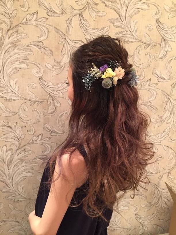 ハーフアップ編】お色直しで人気の髪型!ハーフアップを素敵に